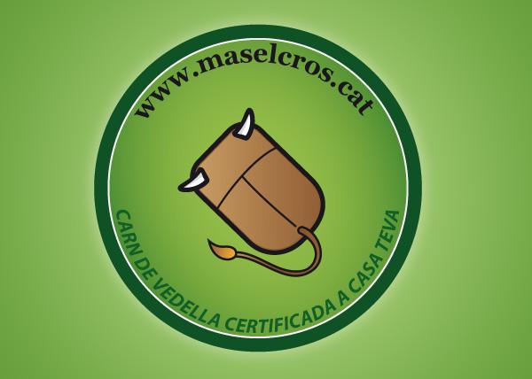 Iman con el logotipo de la ternera online