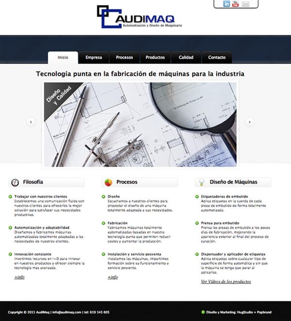 Página inicio web Audimaq
