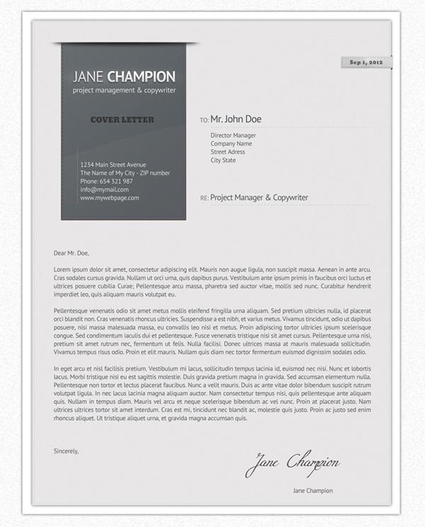 Imagen de la carta de presentación en versión gris