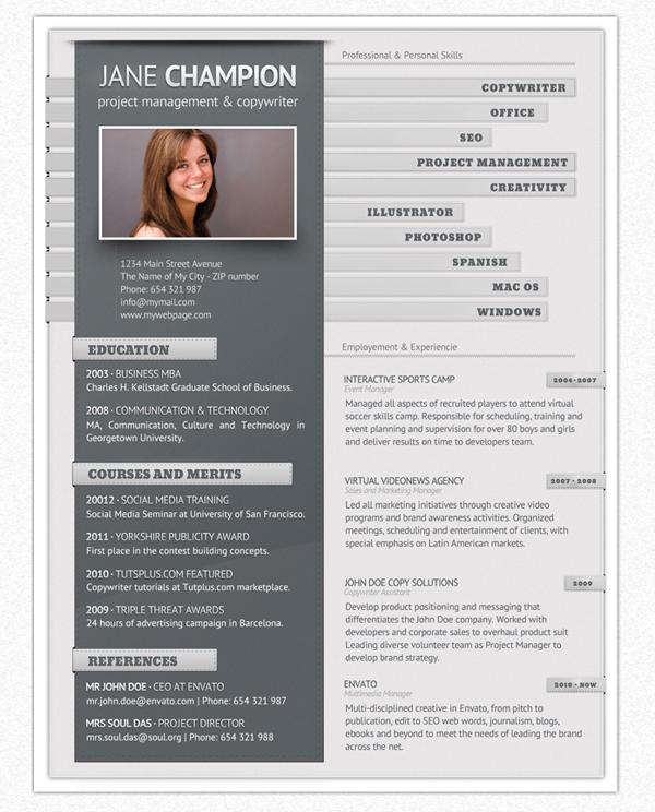Imagen del Pro Currículum Vita en versión gris