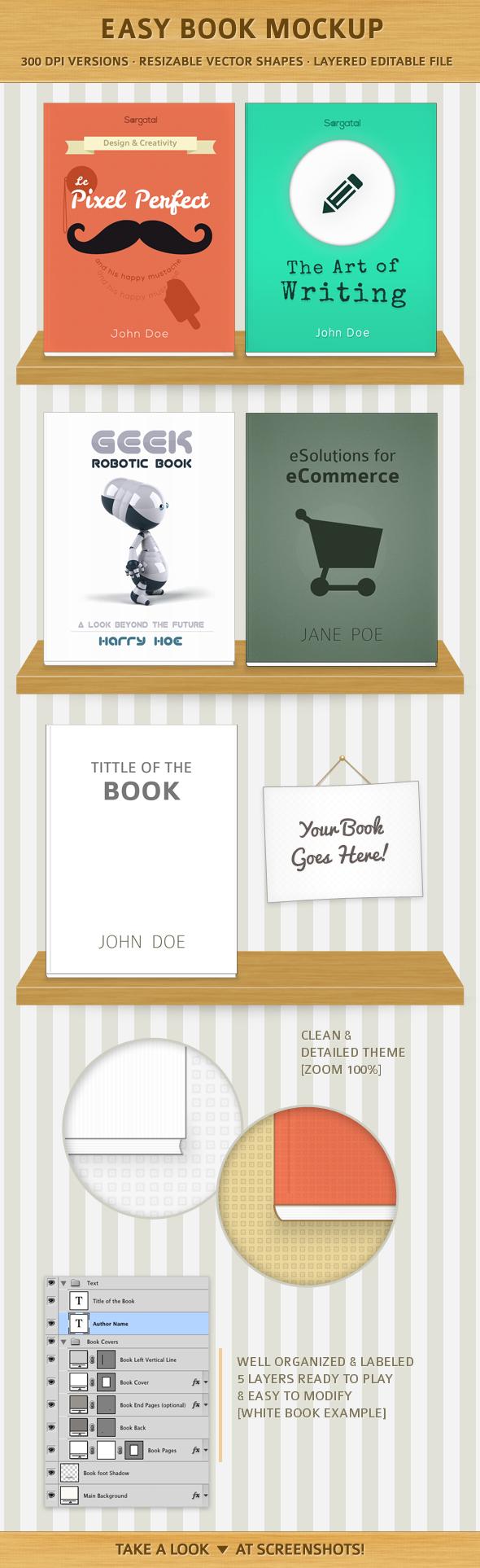 Presentación de libros sobre estanterías