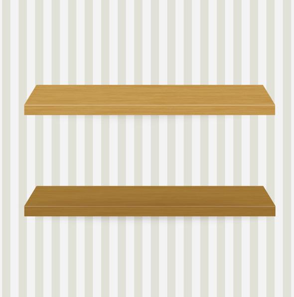Diseño de estanterías de libros en pared