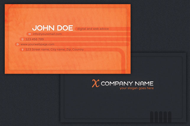 Imagen de tarjetas de presentación por delante y detrás