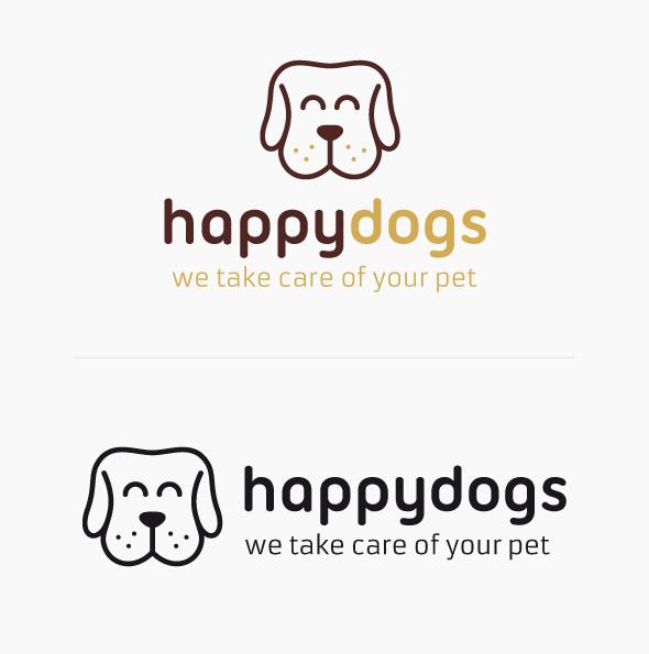 2 imagenes del Happy Dog Logo